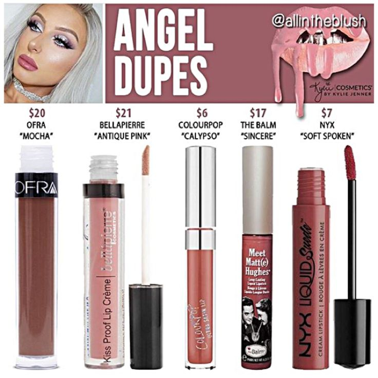 Kylie Jenner lip kit dupes for Angel