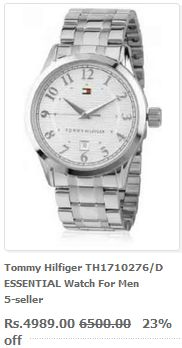 Watchpriceindia.com is India's best watch comparison site to buy the latest and the most fashionable Tommy Hilfiger watches at great discount rates. Find all types of branded and luxurious watch here with its complete price list. Only genuine watches available, no fake ones guaranteed! Visit our website for more.
