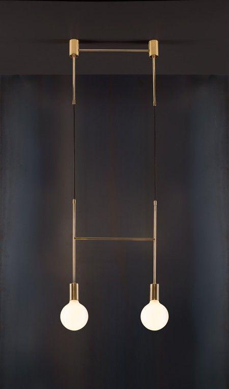 Side Step - Lighting, Minimal, Brass, Contemporary, Cafe, LED.