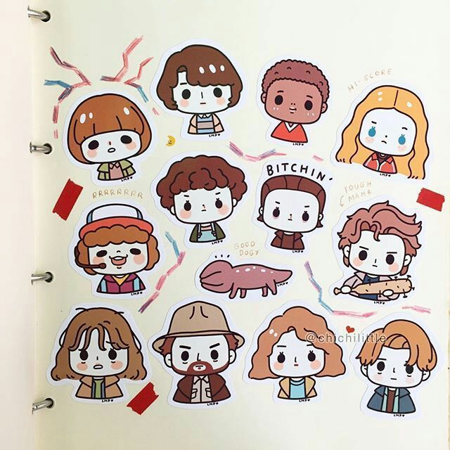Imágenes Kawaii Raras ๑و ω و Stranger Things Chibi Cosas Más Extrañas Stranger Things Wallpaper Como Dibujar Chibi