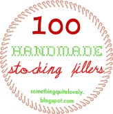 100 Handmade stocking fillers - really good ideas in here!