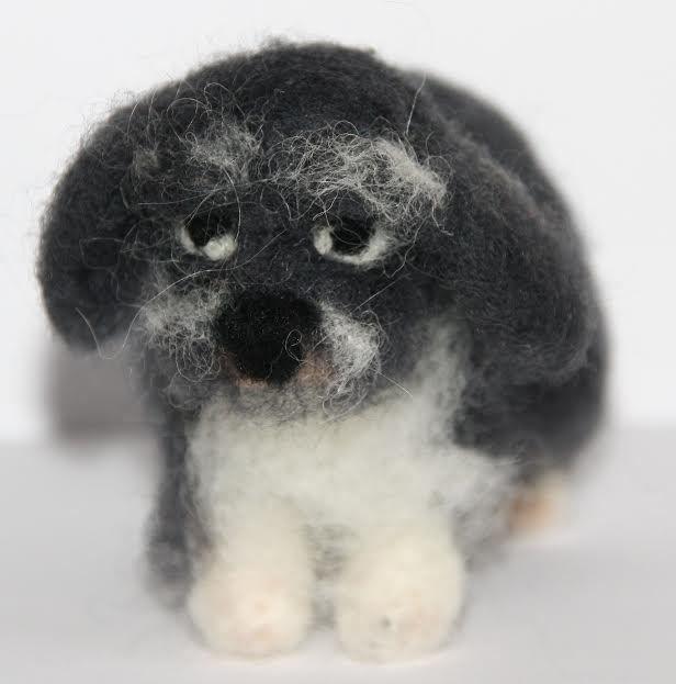 sweet tiny Dog  needle felted miniature beautiful animal toys  handmade #2 | eBay