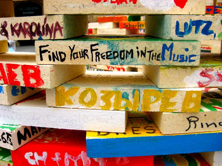 """Find your freedom in the music""  Praha"