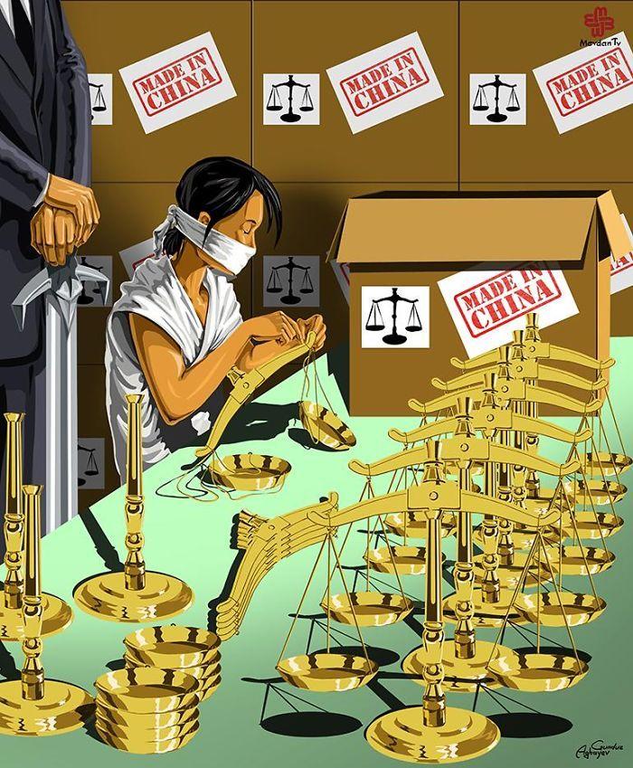 12 dessins drôles et cyniques qui montrent ce qu'est devenue la Justice dans différents pays... Ça fait réfléchir