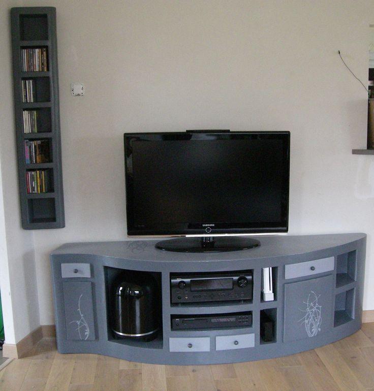 140 best images about muebles de carton on pinterest for Petit meuble multimedia