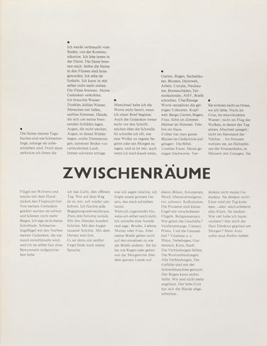 Typographische Monatsblätter cover from 1980 issue 6 by Dora Wespi. Typefaces: Gill Sans, Times New Roman. #typolove