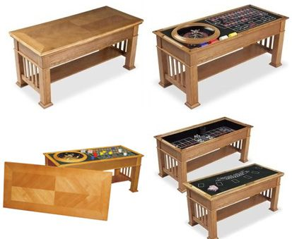 casino coffee table 2dayblog games for game room. Black Bedroom Furniture Sets. Home Design Ideas