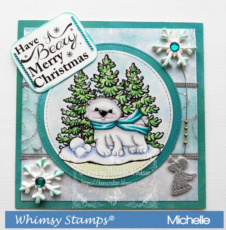 Whimsy Stamps Bear Cute Bear Digital Sentiments