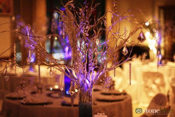 DIY Manzanita Branch/Curly Willow Branch Centerpieces :  wedding centerpieces diy manzanita curly willow crystals crystal wedding tree branches Crocketkeeneywedding45