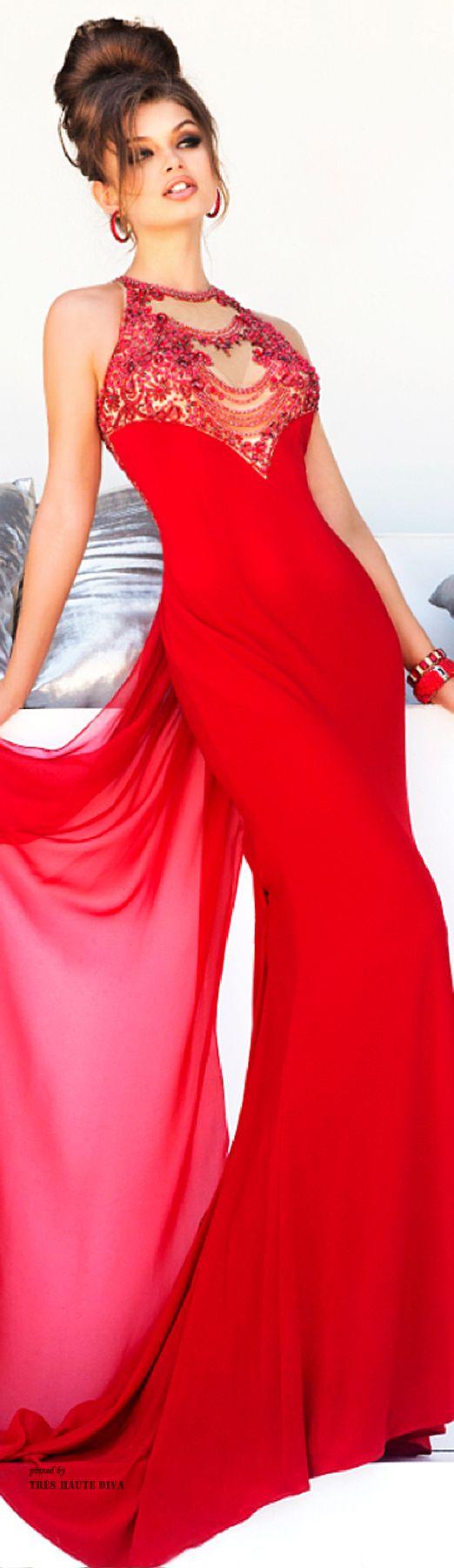 Sherri Hill Fall - red gown - 2014 #fashionserendipity