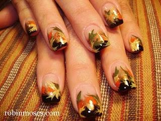 "Nail-art by Robin Moses: ""cute fall nails"" ""cute fall nail art"" ""fall"