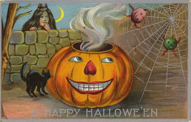 Halloween Postcards : In The Late 1800s, Postcards Were The Text
