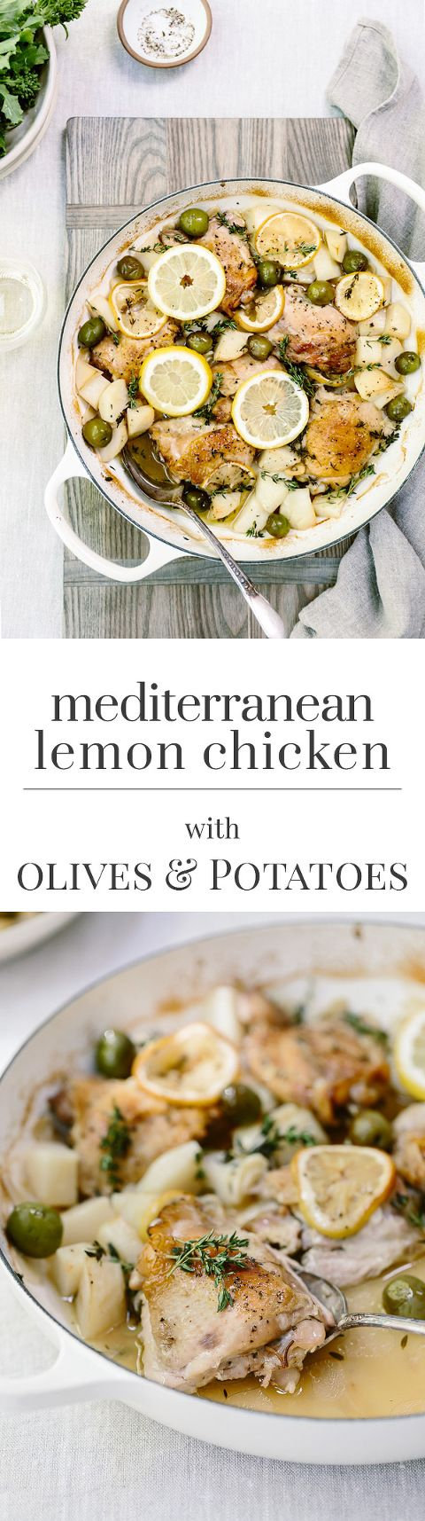 Mediterranean Lemon Chicken with Olives and Potatoes
