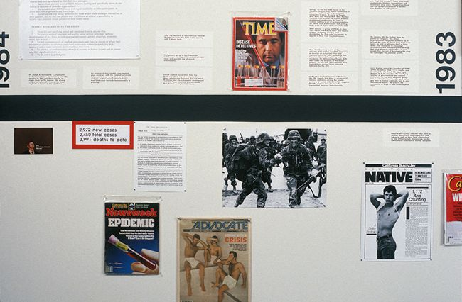 Group Material, AIDS Timeline (Berkeley). 1990