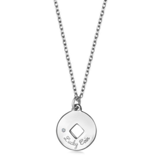Srebrny Naszyjnik Lucky Coin, 119 PLN, www.YES.pl/54042-lucky-coin-srebrny-naszyjnik-z-diamentem-AB-S-000-DIA-ANCL433#jewellery #silver #BizuteriaYES #shoponline #accesories #pretty #style