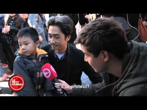 """Superpeep papa!  """"They might have guns but we have flowers"""": French father to kid after P..."""