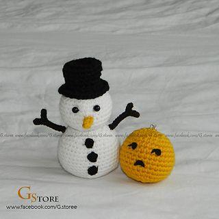 Snowman Emoji Amigurumi by Gstore