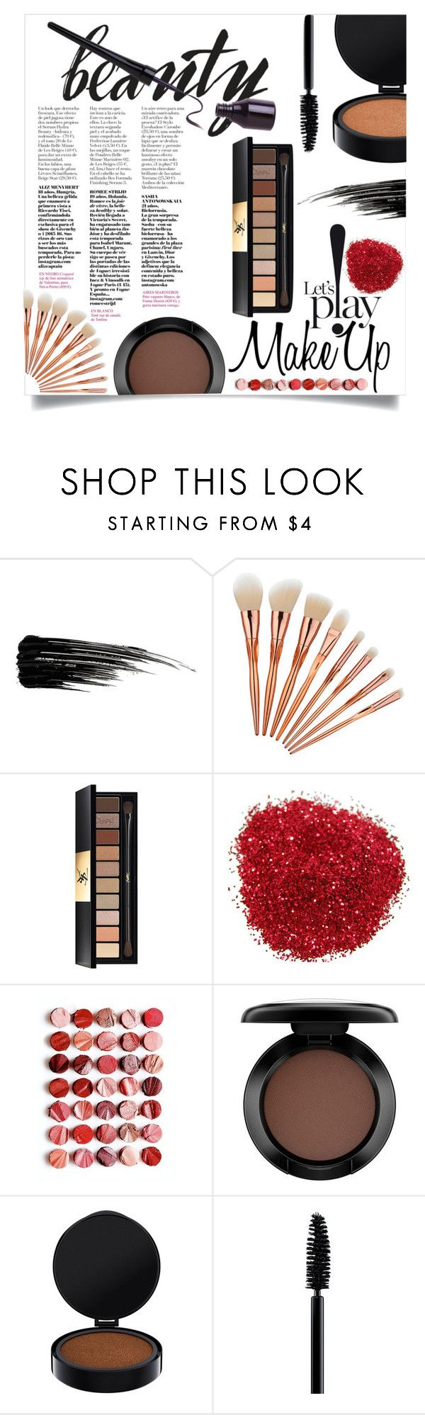 """""""Let's p!ay MakeUp"""" by mery-m-1996 ❤ liked on Polyvore featuring beauty, Urban Decay, Yves Saint Laurent, Free People, MAC Cosmetics and modern"""