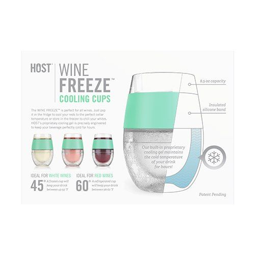 Host Wine Freeze Cooling Cups Mint Set Of 2 Want Additional
