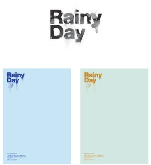 Rainy Day Identity: Identity Logos, Art, Types Types, Graphics Design, Branding Graphics, Typography, Rainy Days, Stationery, Branding Ideas