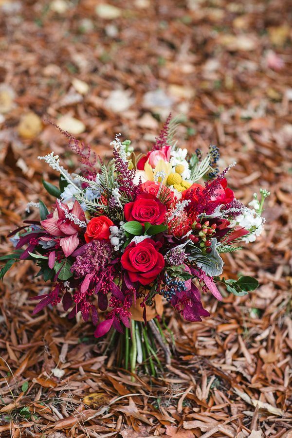Vibrant Fall Bouquet in Jewel Tones | Soul Child Photography | http://heyweddinglady.com/colorful-bohemian-wedding-fall/