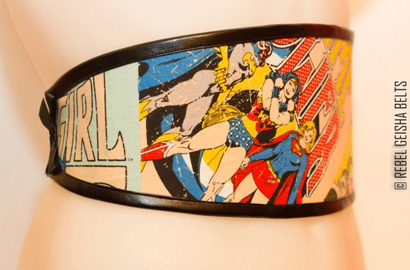 Waist-Cincher Style Belts for bold women who love to stand out in a crowd! Designed and Made in Toronto PERSONAL SERVICE/CUSTOM ORDERS ONLY  COLLECTION: COMICORS wonder woman rocks $60