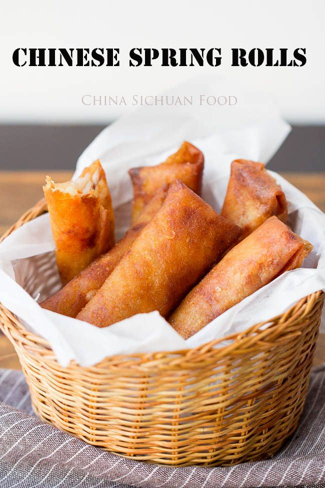 Chinese Spring Rolls. These have pork, but they could be easily done with anything. These remind me of Julie's. <3