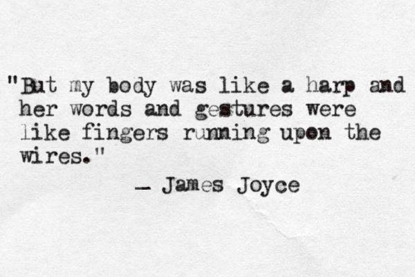   p o é t i q u e   James Joyce  
