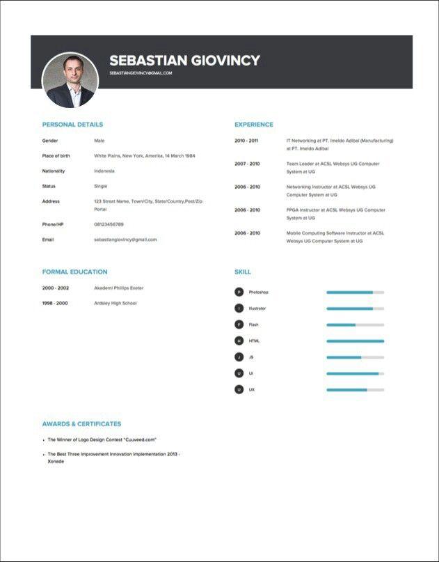 Resume CV template at cuuveed.com Free