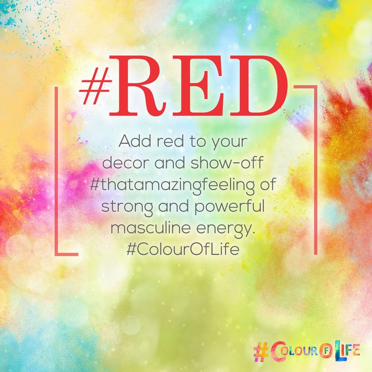 #RED is a warm and positive colour associated with our most physical needs and our will to survive. Adding Red to your décor exudes #thatamazingfeeling of strong and powerful masculine energy.This #Holi add  #ColourOfLife #Red
