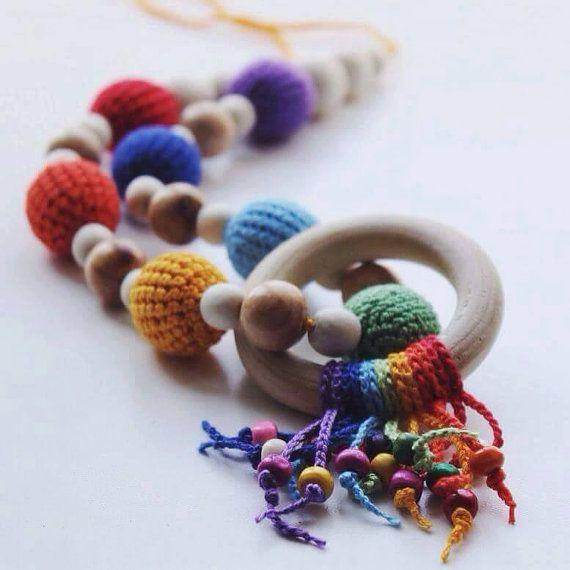 Nursing Necklace Teething Toy Breastfeeding by MoonBearKids