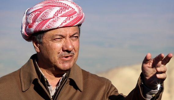 Massoud Barzani, president of the Kurdistan Regional Government, has decided to stay close to the battlefield around Mosul Dam in northern Iraq to direct operations and encourage peshmerga fighters.