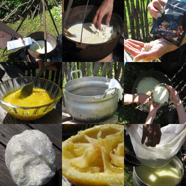 Jāņu siera pagatavošana