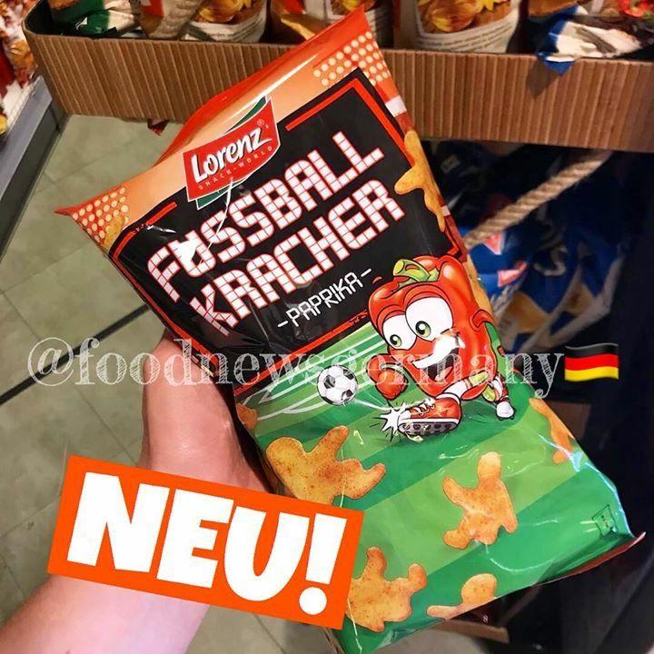 Werbung Lorenz Fussballkracher Chips Produktneuheit Lebensmittelneuheiten Neu Foodnews Kinder Schokolade Kinderschokolade Lebensmittel