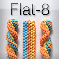 DIY Flat-8: Brick, Twist, Switch-back  -  Boondoggle, Scoubidou, gimp, keychain, laneyard