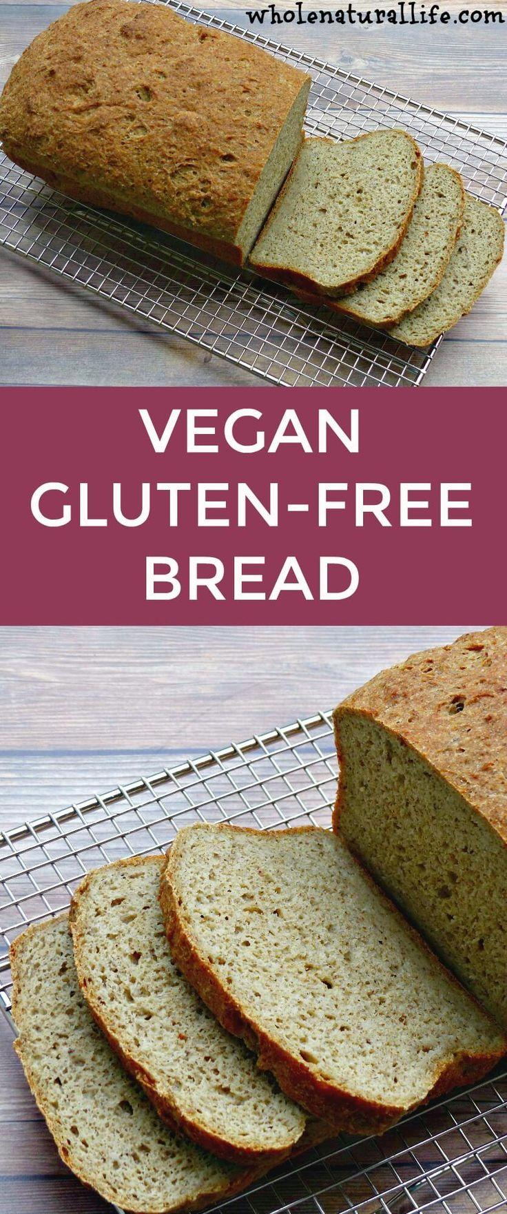 Vegan gluten-free bread recipe | Gluten-free bread without xanthan gum | Easy gluten-free bread | Homemade gluten-free bread