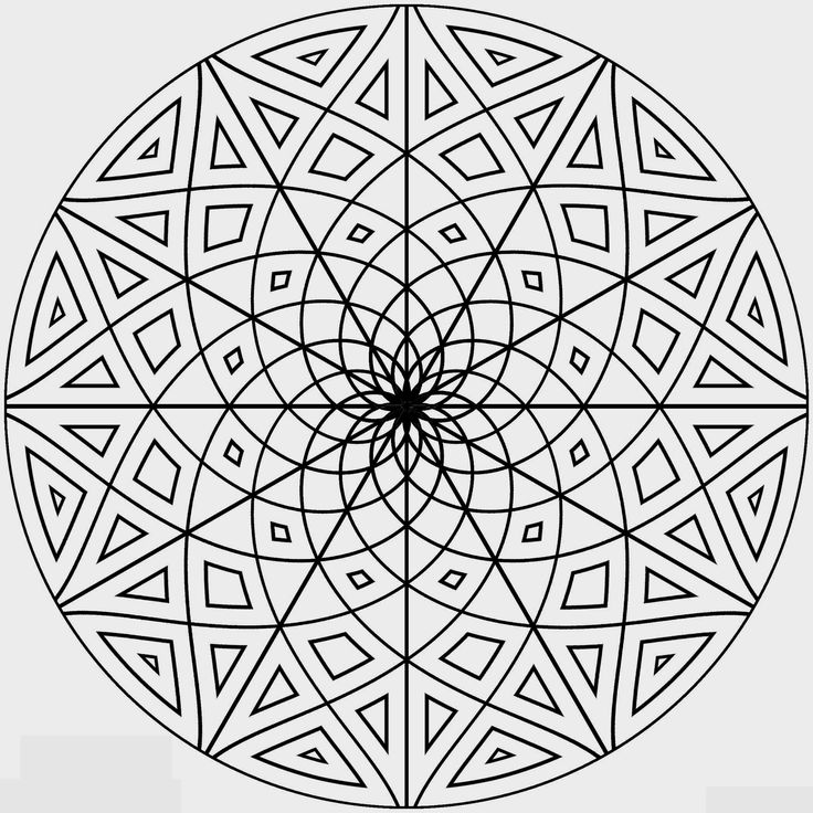 mandalas hard coloring pages for kids printable mandalas coloring pages for kids - Printable Coloring Pages Patterns