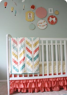 Colorful Hot Air Balloon Themed Baby Girl Nursery Room Reveal