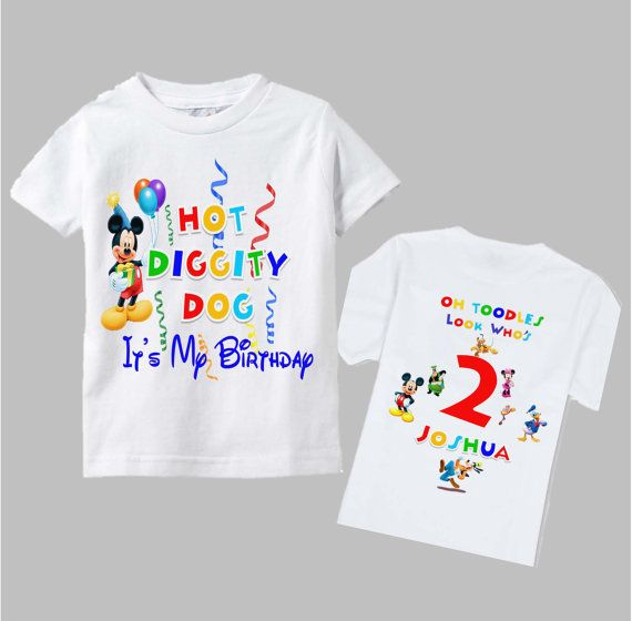 Mickey Mouse Clubhouse Birthday Shirt  Mickey by funfashionsetc, $13.95