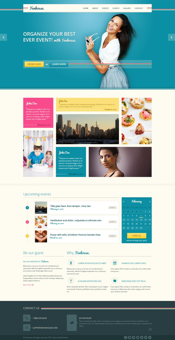 colorful corporate web design - #web #design