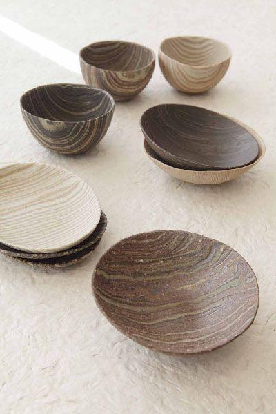Love this striped ceramics from Babaghuri (Photo: Noriko Matsumoto)