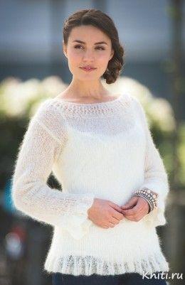 пуловер спицами — Мир вязания и рукоделия