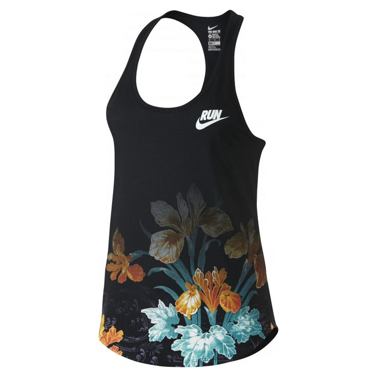 Nike+Photosynthesis+-+RUN+IN+FULL+BLOOM  The+Nike+Photosynthesis Women's+Running+Tank+Top celebrates+the+long+days+and+sunlight+that+transform+spring+buds+into+summer+blooms+with+fresh+floral+graphics+on+soft,+tri-blend+cotton.  Benefits    Dri-FIT+fabric+helps+keep+you+dry+and+comfortable  Rib+V-neck+and+racerback+for+wide+range+of+motion    Product+Details    Fabric:+Dri-FIT+75%+polyester/13%+cotton/12%+rayon  Machine+wash  Imported