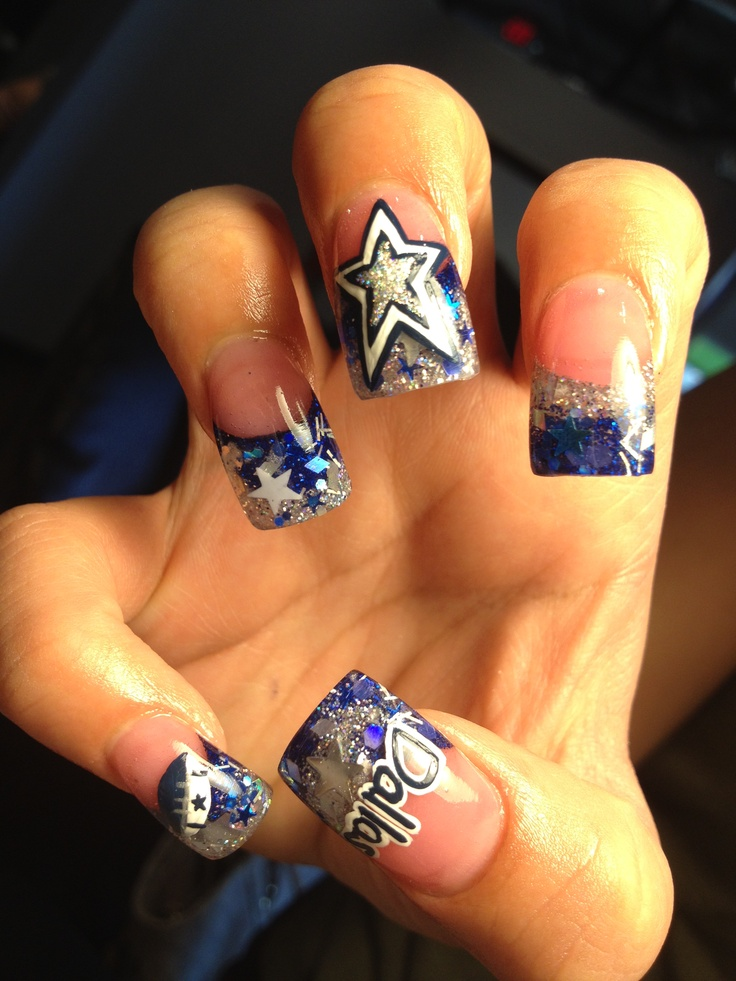 67 best dallas cowboys nail art images on pinterest cowboy nails dallas cowboys nails prinsesfo Images