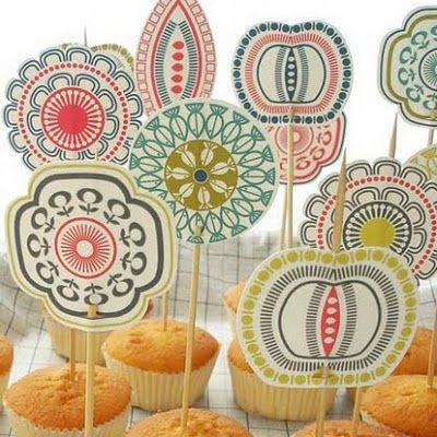 cup cake decoration by hus & hem. A scandinavian shop in ledbury, herefordshire who have just launched a brand new website.