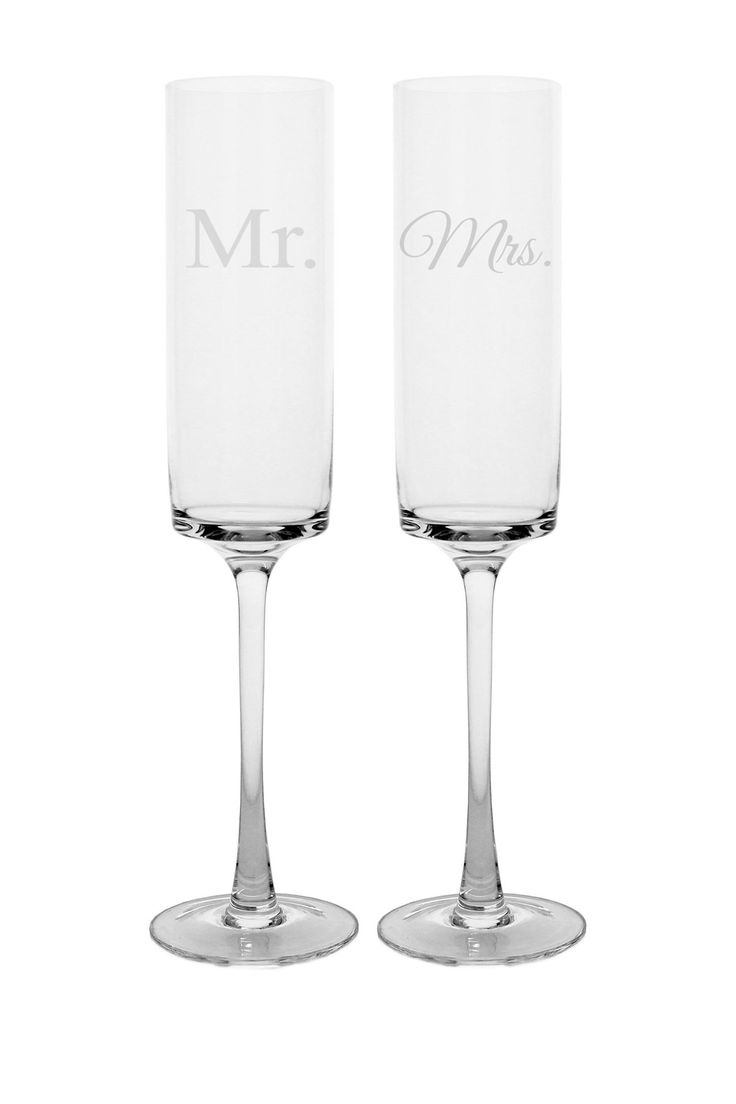 best wedding glasses and cake♡♡ images on pinterest  - mr  mrs contemporary champagne flutes on hautelook