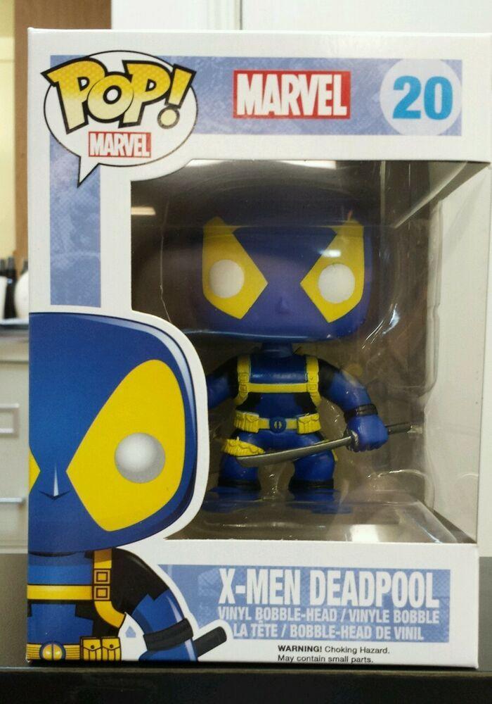 Marvel Vinyl Bobble-Head Figure Funko X-MEN DEADPOOL #20 POP Blue /& Yellow