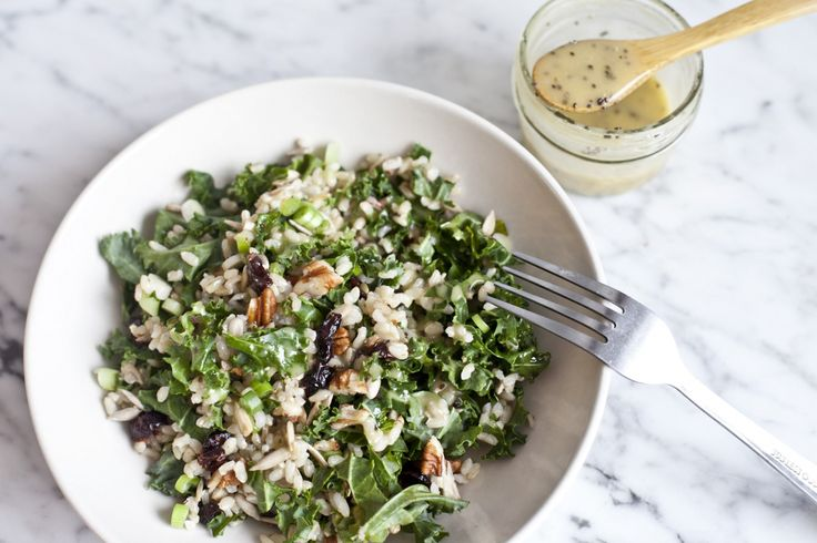 Warm Brown Rice Salad with Kale, Pecans and ProactivChia | Recipe