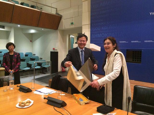 Συνάντηση της Υπουργού Πολιτισμού και Αθλητισμού με αντιπροσωπεία της Οικονομικής και Κοινωνικής Επιτροπής της Σανγκάης και με αντιπροσωπεία της Ο.Κ.Ε Ελλάδας