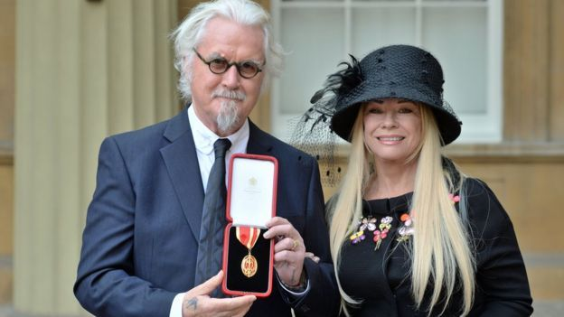 Billy Connolly was joined at the ceremony by his wife Pamela Stephenson